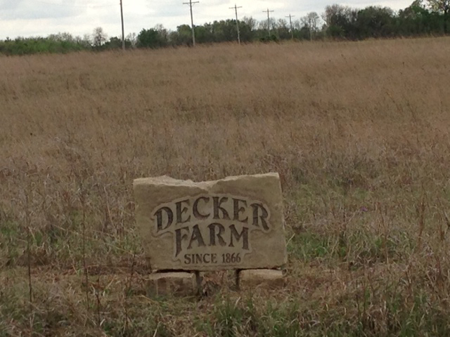 Decker Farm sign