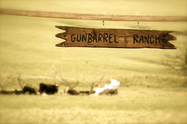 Gunbarrel Ranch sign